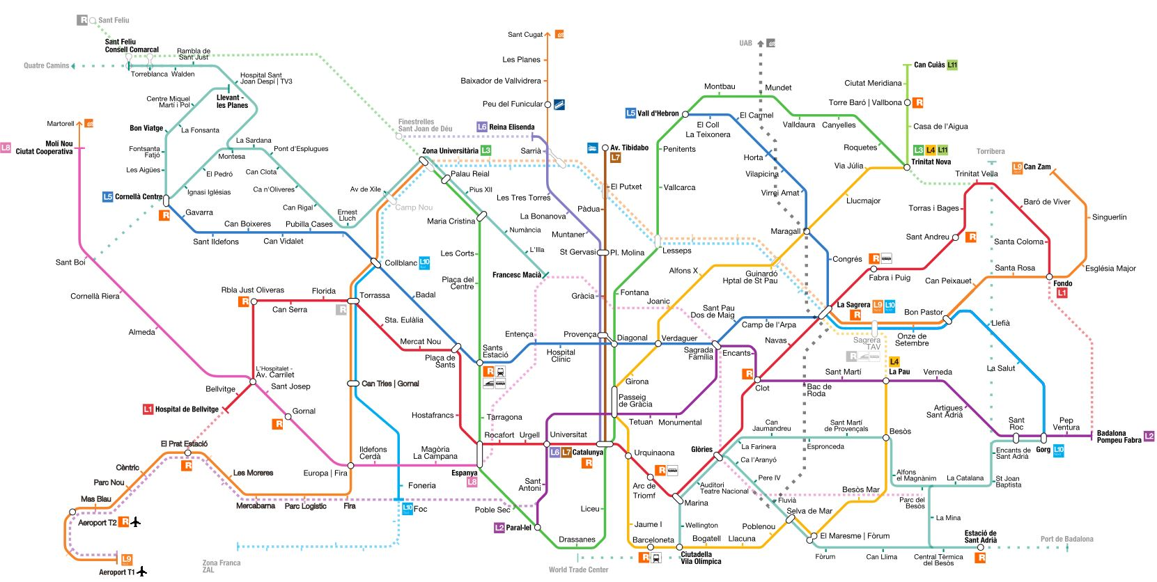 Metro Barcelona Mapa 2018.How To Use Barcelona Metro Everything You Need To Know