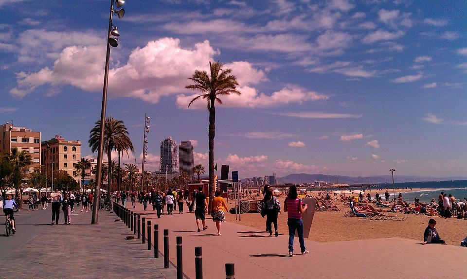 Barceloneta -Steidteile in Barcelona