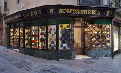oldest shops in barcelona- Sombrereria Obach
