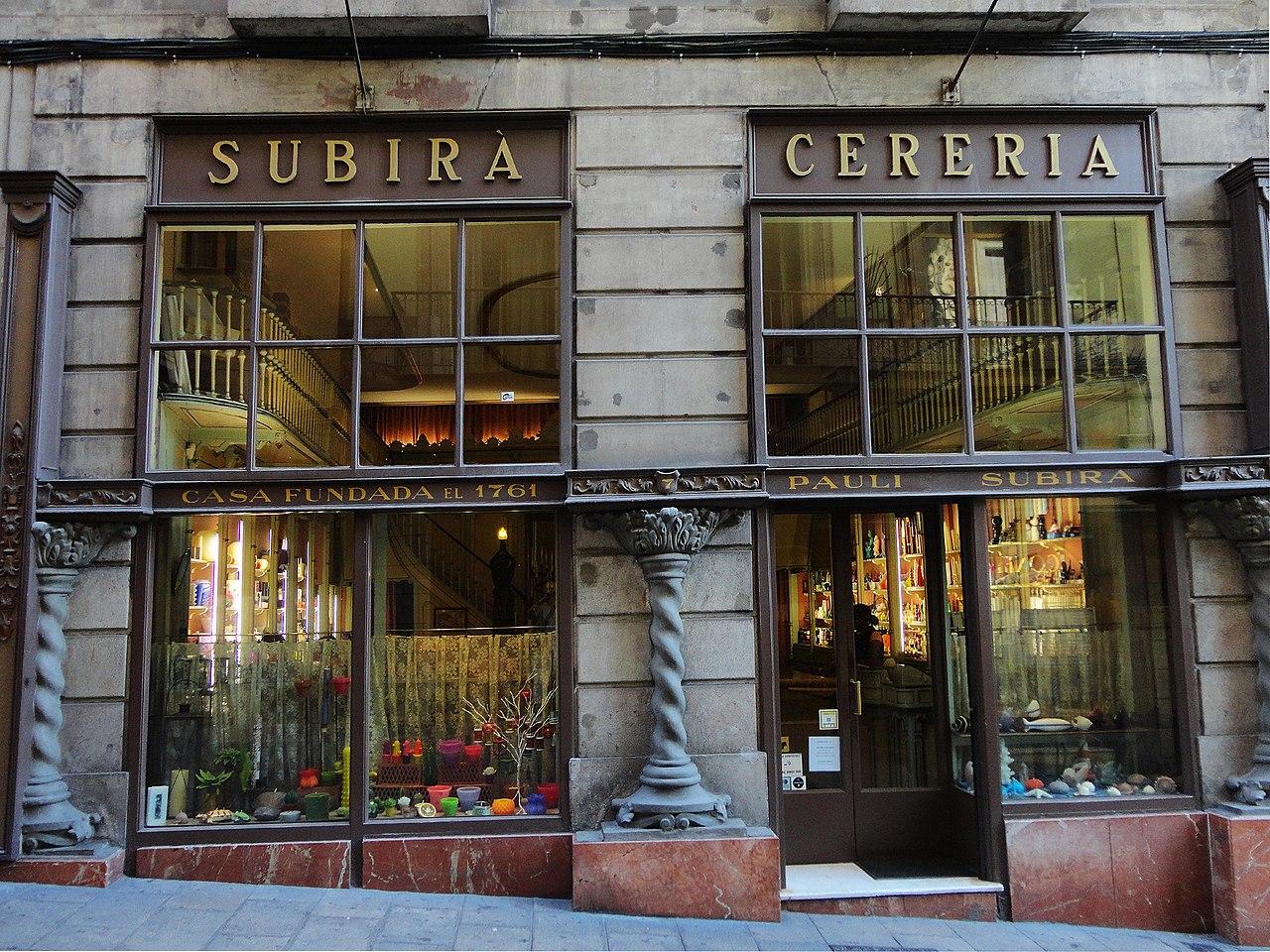 most beautiful shops in Barcelona- cereria Subirà