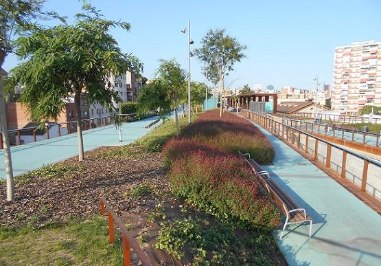 Jardins Rambla de Badal. Sants, Barcelona